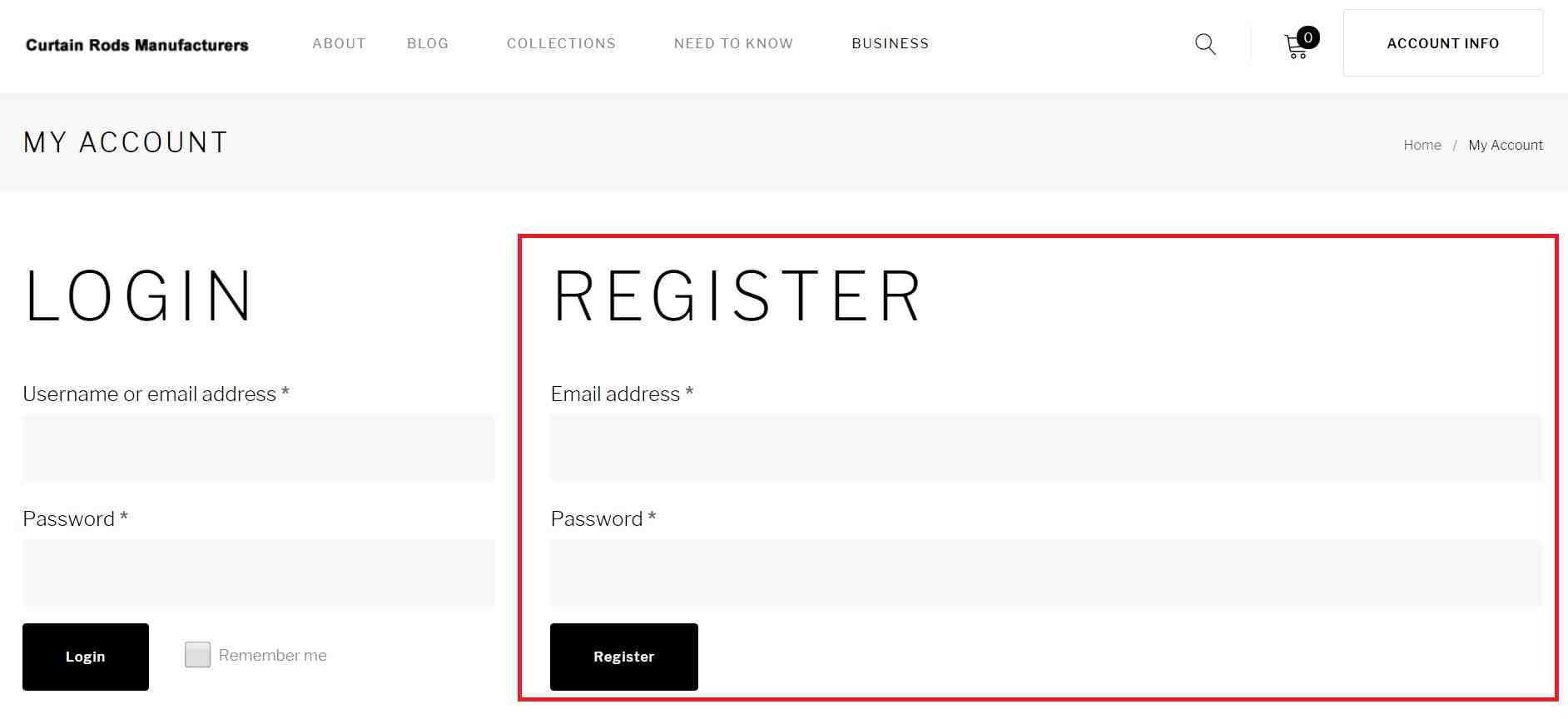 Please provide your email and setup your passwords for registration