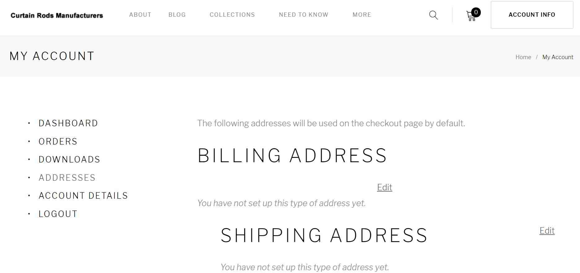Please provide your Billing address and Shipping address both.