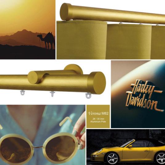 Verona m82 28 mm aluminum pole, a versatile range of poles for colour-minded ambience planning.