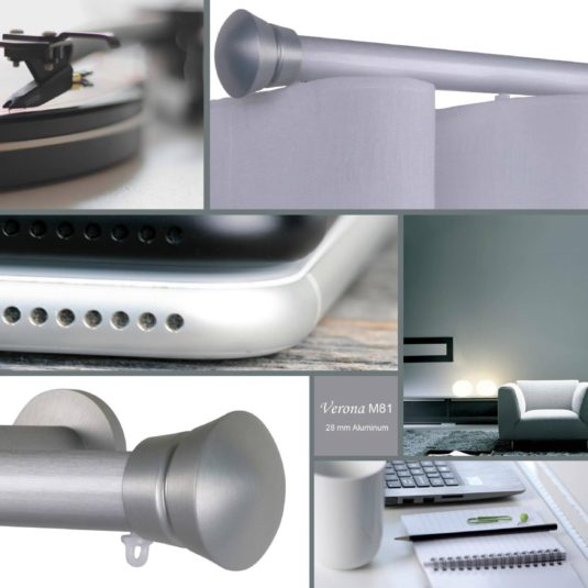Verona m81 28 mm aluminum pole for wave curtains