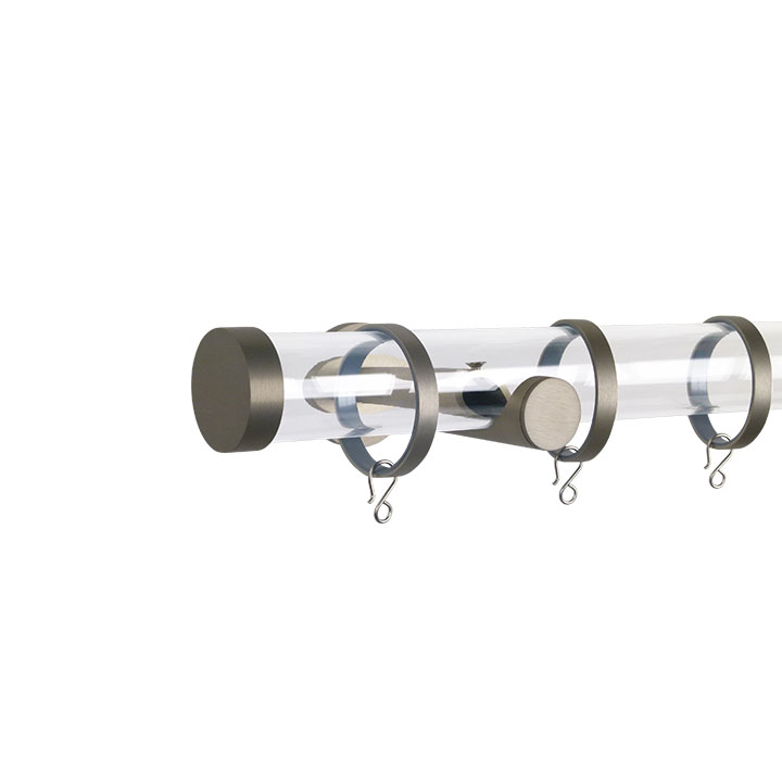Verona M84 35 mm Acrylic Poles Set Single Bracket Champagne